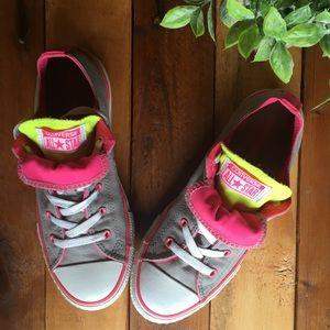 CONVERSE Double Tongue Chucks - Grey and Pink